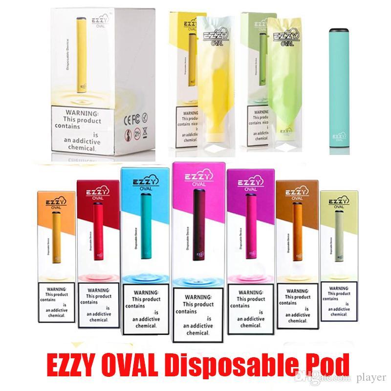EZZY OVALE dispositif à usage unique jetable Vape Pen 280mAh batterie de cartouches vides Bar 300 Puffs Starter Kit Vs Bidi Puff plus Glow