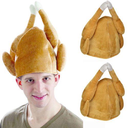 새로운 성인 로스트 터키 파티 봉제 추수 감사절 휴일 의상 닭 모자 코스프레 모자 참신 재미