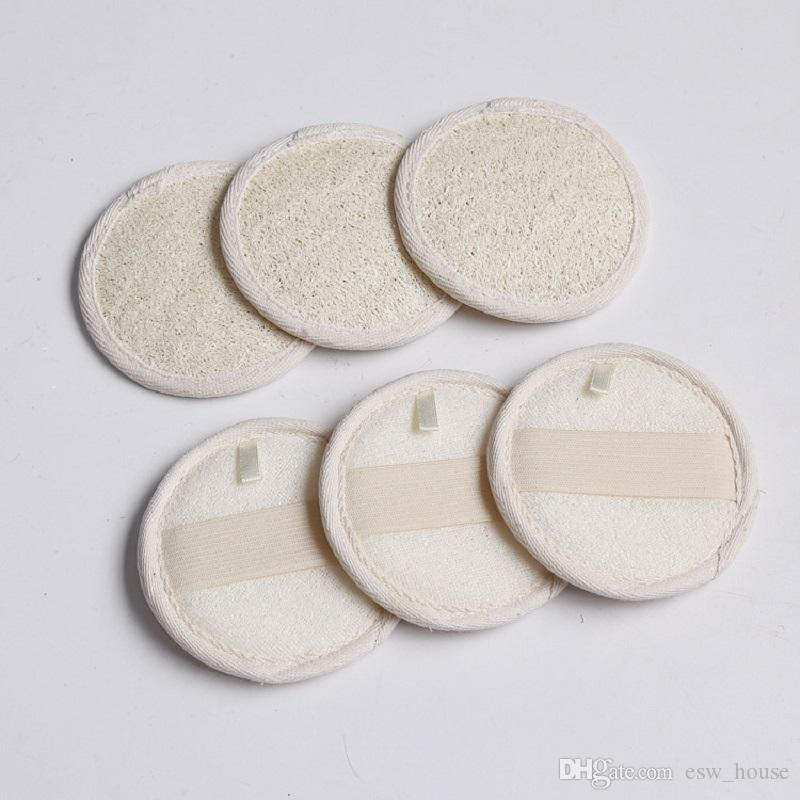 2020 8 8cm Round Shape Natural Loofah Pad Back Scrubber Loofah