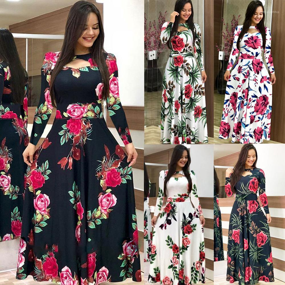 Plus Size Women Summer Dress Flower lungo 2020 New Spring Abiti Casual 5XL