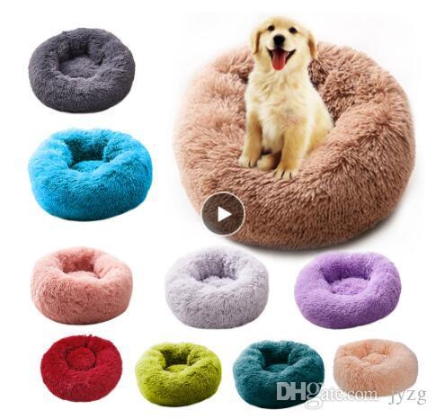 جولة القطة سرير البيت لينة القطيفة طويل أفضل الحيوانات الأليفة سرير الكلب للكلاب سلة منتجات الحيوانات الأليفة وسادة القطة الأليفة سرير حصيرة القط البيت الحيوانات صوفا