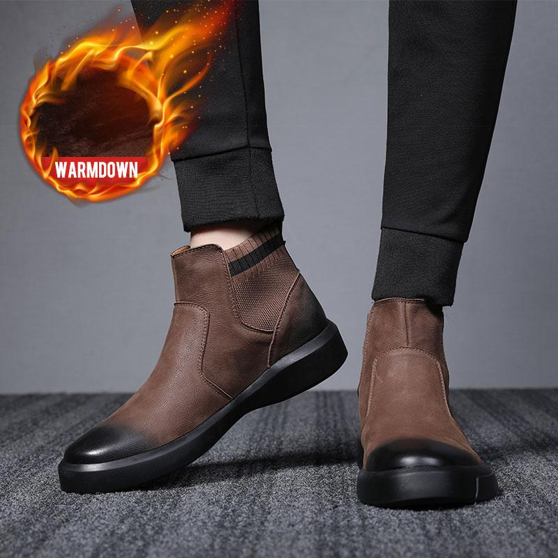 OSCO Genuine Leather Men Boots Autumn