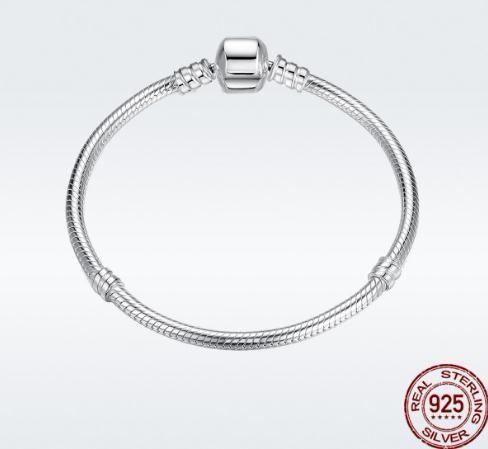 100% 925 Серебряный браслет Оригинальный браслет для женщин шарики шармов браслета ювелирных изделий Женщины подарков