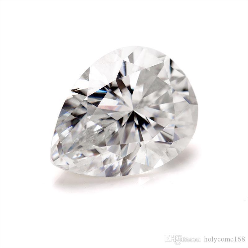 Большой размер 12X16mm груши вырезать белый синтетический свободный муассанита драгоценный камень