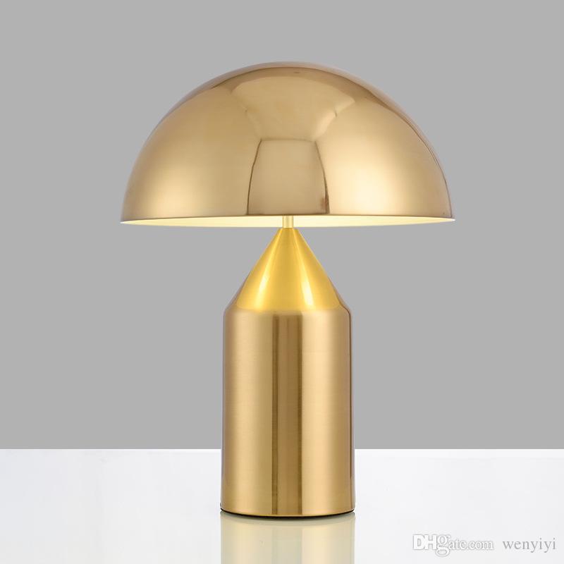 Lámpara de mesa de estudio de dormitorio con luz minimalista posmoderna Lámpara de mesa de setas creativa de personalidad nórdica