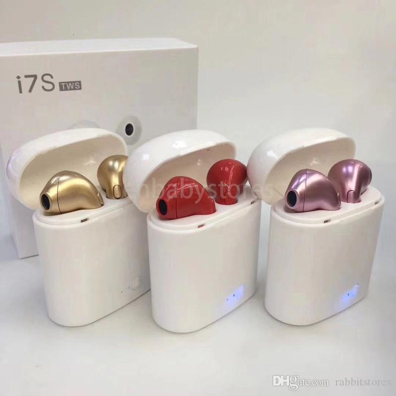 I9s Tws I7 I7S Twins Mini Bluetooth-Kopfhörer mit Ladebox Wireless Music-Auto-Fahrer-Headset Telefonhörer mit Mikrofon für Iphone C8ZS