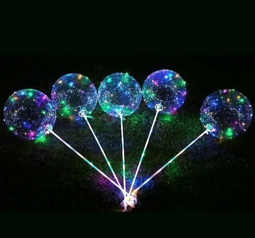 Luminous Latex bobo Luftballons mit Stock-Riesen hellen LED-Ballon-Kind-Spielzeug-Festival Party Supplies-Geburtstags-Party Hochzeit Dekorationen