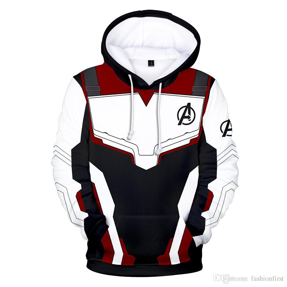 Moda Erkekler Avengers Son Oyun Diyar Cosplay Kapüşonlular 3D Kazak Kazak Kuantum Diyar Superhero Kuantum Diyar Giyim Ceket