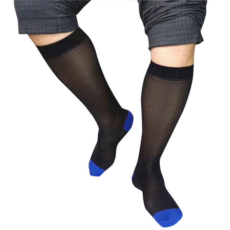 Black Navy Male Suit Dress Sexy Silk Socks Sheer Mens Formal Socks Best Quality Man At Play Transparent Gentleman Men Socks