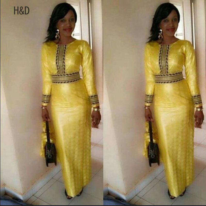 donne africane Abbigliamento Africaine Moda Poliestere africani Abiti Riche 2017 Slim robe de soiree vita alta vestito da donna