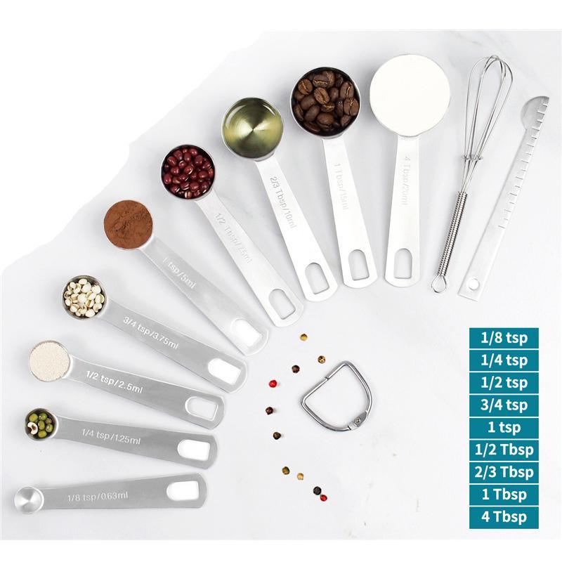 Prim Paslanmaz Çelik Ekmek Aracı Mutfak JK2001 Malzemeleri Kuru ve Sıvı Malzemeler Ölçüm Kaşık Ölçme