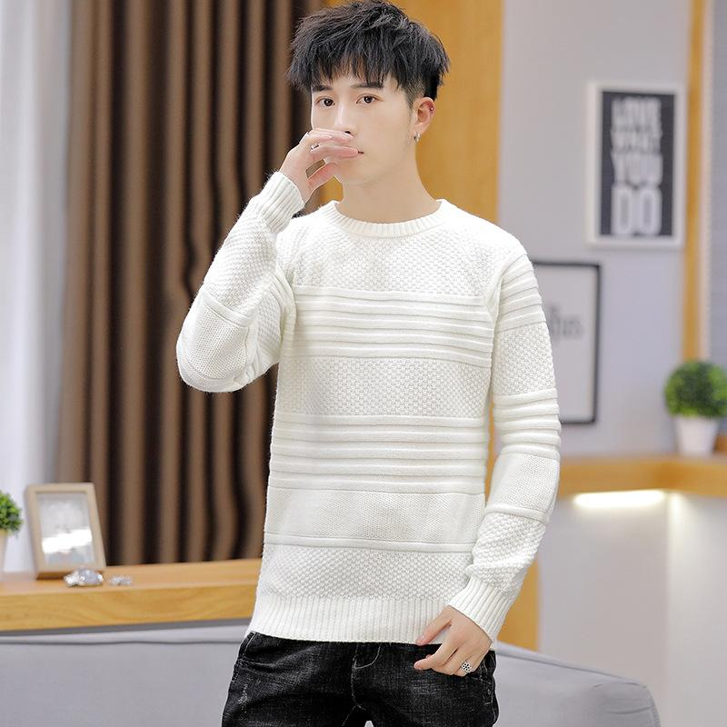 2020 White Mens Sweater Beige Green Light Blue Black Long Sleeve Winter O Neck Casual Pullovers New Fashion Mens Sweaters From Yuedanya, $32.27 |