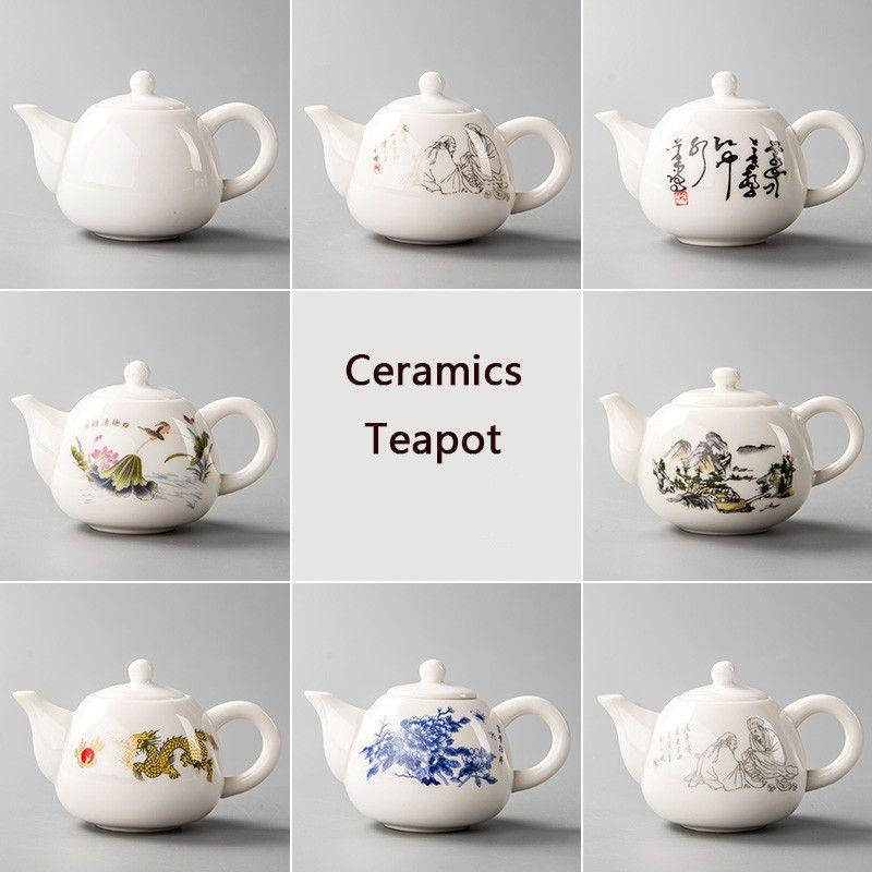 Ceramica Teiere Yixing Tea Pot White Porcelain Tea Set cinese Teiera unico bollitore Kung Fu Teaset infusore China Tea Cups D001