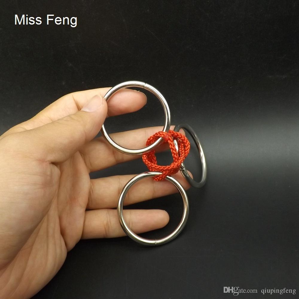 H271 / Three Rings Metal Puzzle Model Ring Solution Brian Teaser Gadget Juego de inteligencia Juguetes Regalos para niños