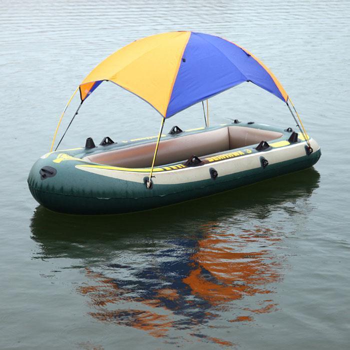 2-4 Personen Schlauchboot Kajak Ruderboot Überdachung Markise Anti-UV Sonnenschutz Shelter Regenschutz Angeln Zelt