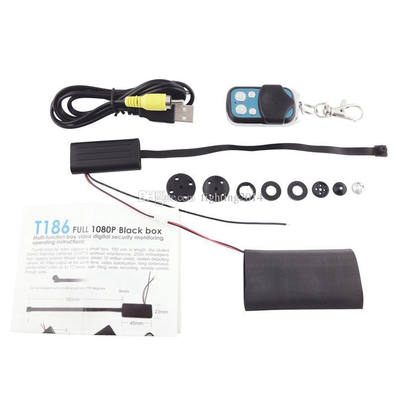 Full HD 1080p black box T186 DIY Module mini camera with remote control Motion Detection DVR Home security camcorder