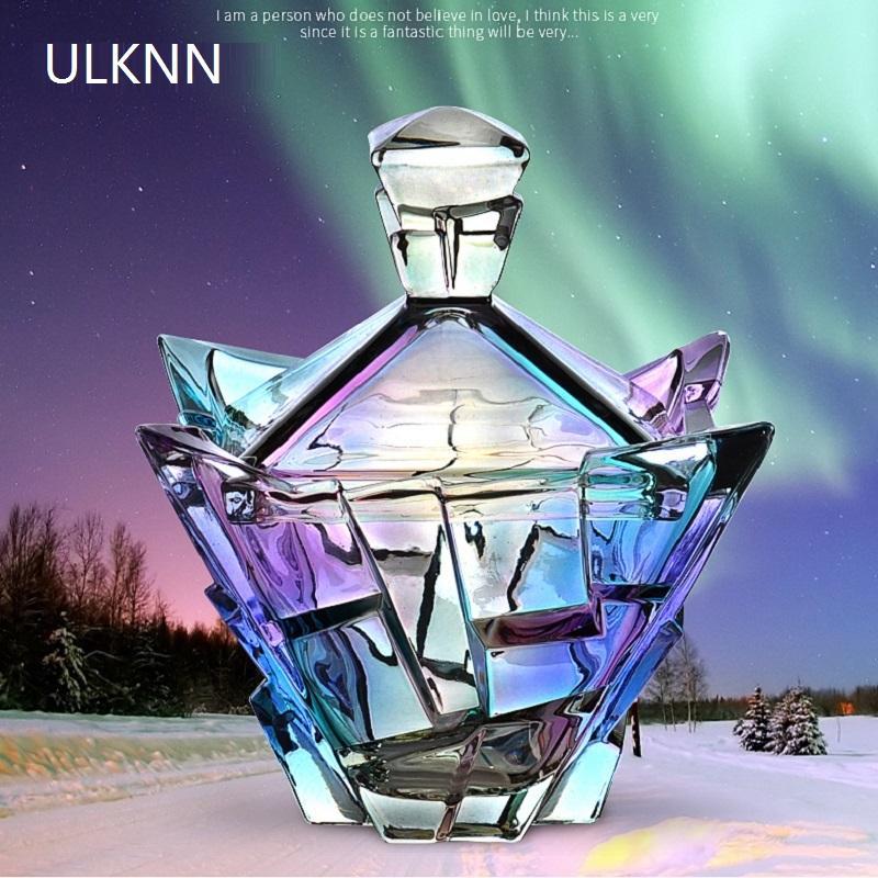 ULKNN Cristal de plomo libre de cristal del grano Sugar Bowl alta calidad tarro del caramelo Snack-Container del hogar creativo decoración
