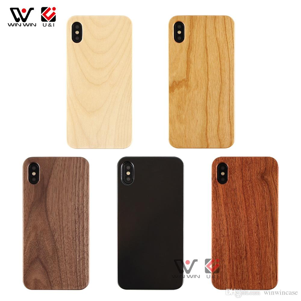 Amazon Top Support 2019 Real Blank Wood Cover Cover Cover для iPhone 6 7 8 Plus X XR XS MAX
