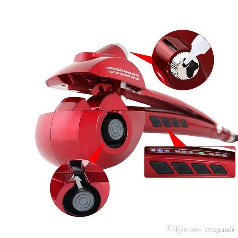 Tout automatique par pulvérisation LED numériques bigoudi Irons cheveux d'ions négatifs Génération Splint Outils de cheveux à défriser à vapeur
