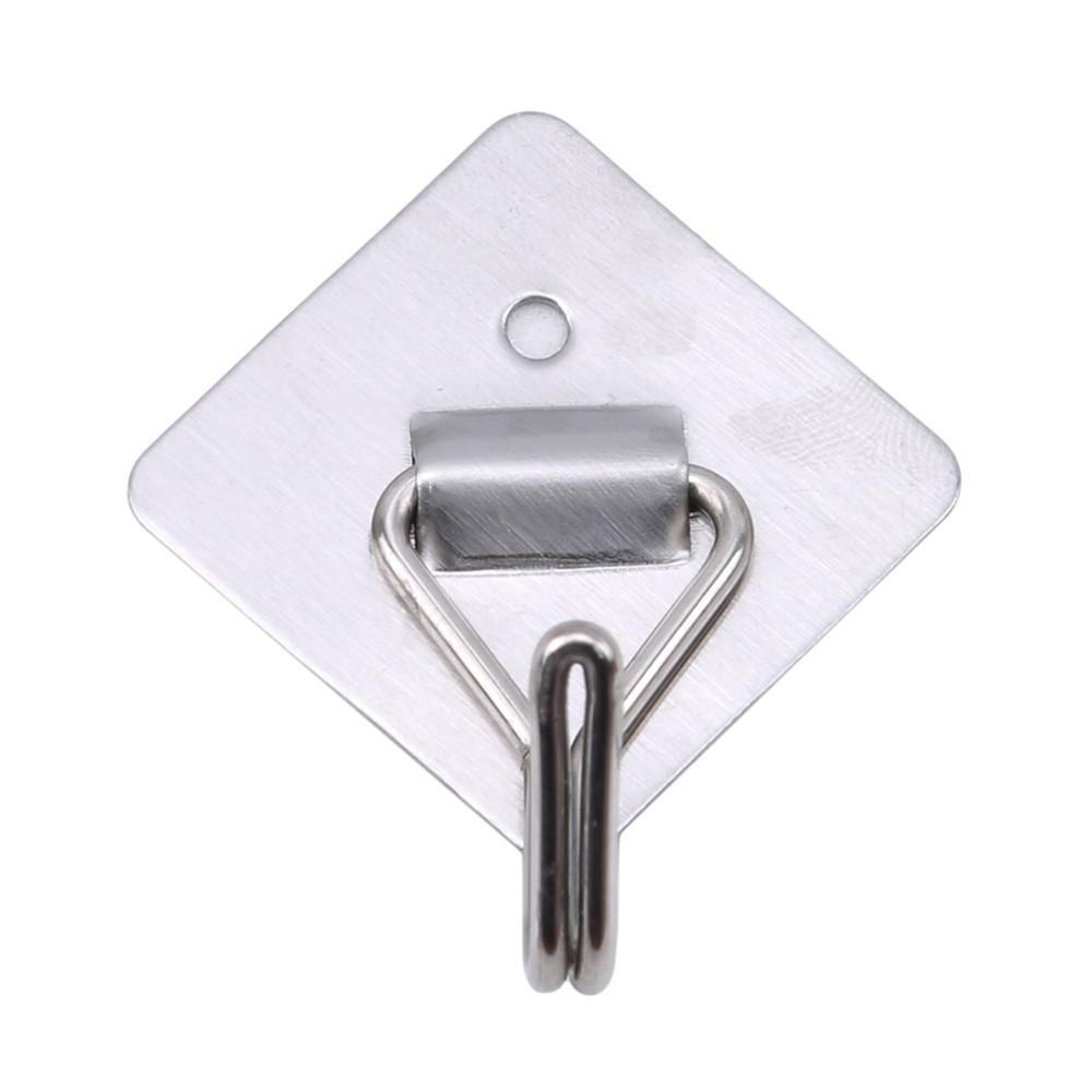 Ellenmar 3pcs Stainless Steel Hooks Hat Hanger Space-saving Bathroom Accessories Door Wall Hooks Hanging Cloth Towel Tools