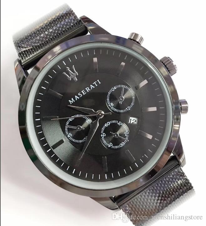 Cadeau mode Italie Marque mode maserati Casual Steel Mesh Watch VOLARE Hommes 42mm Business Quartz Watch montres