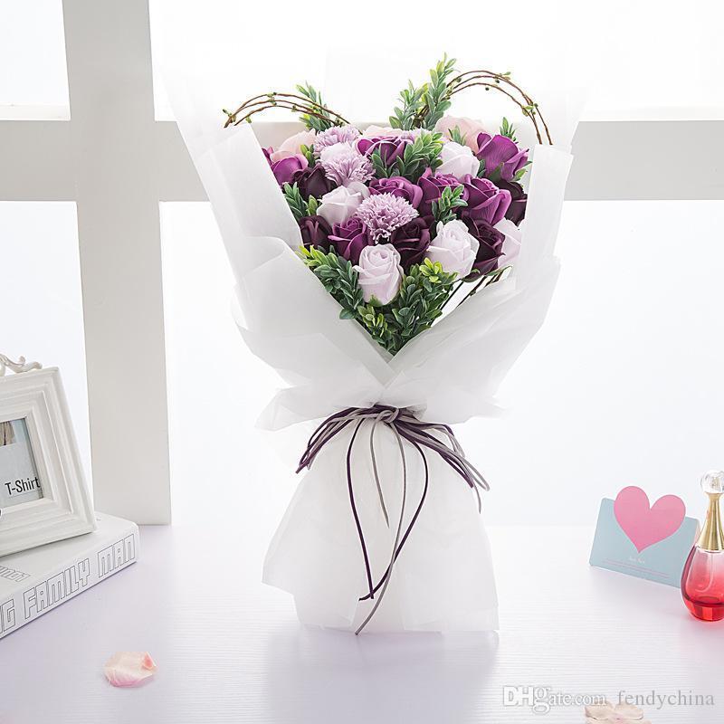 Papel de embalaje de regalo 60 cm x 10 m papel de celofán translúcido papel de embalaje de flores a prueba de agua película de flores embalaje Floral