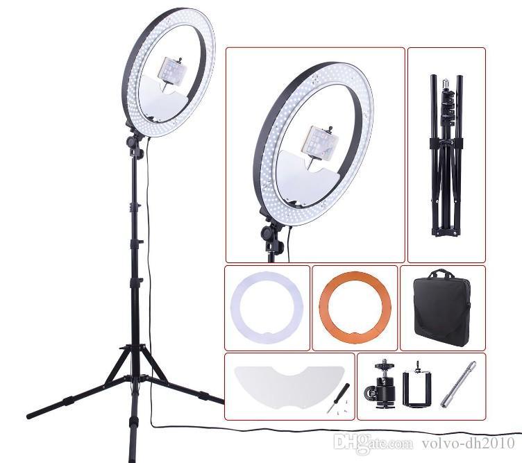 Fotocamera Photo Studio Telefono Video 55W 240pcs LED Ring Light 5500K Fotografia Lampada da anello di trucco dimmerabile con 180 cm treppiede LLFA