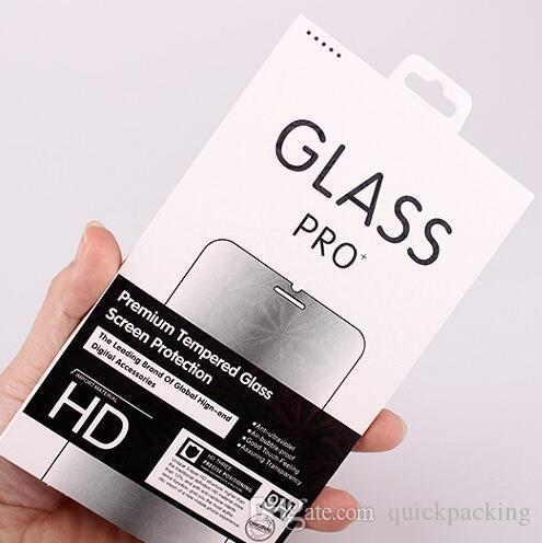 Lazer renkli sınır boş Perakende Paket Kutusu Paketi Temperli Cam 9 H Ekran Koruyucu için iphone X XS MAX XR 8 Artı Huawei OPPO