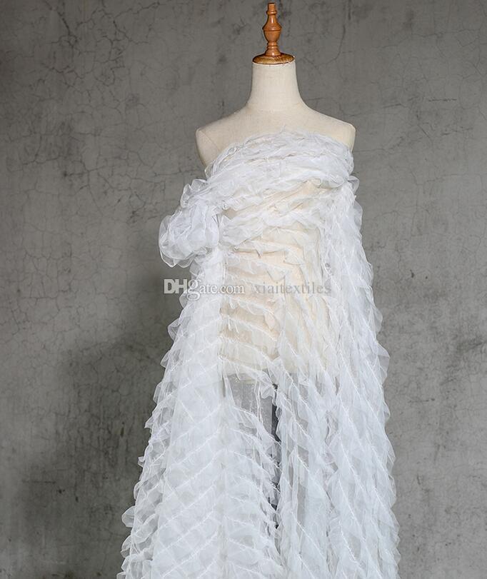 7cfd44dc2 Sexy Criativo de seda de poliéster de malha de renda tecido de vestido de  casamento ...