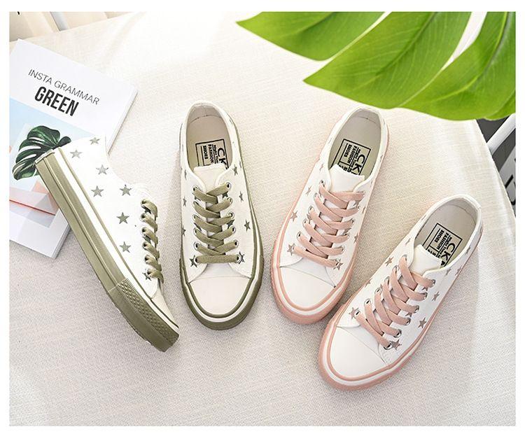 2019 yazında küçük beyaz ayakkabı kadın yeni bir aşk alt kanvas ayakkabılar Koreli küçük kirli turuncu şık rüzgar kurulu ayakkabılar her türlü
