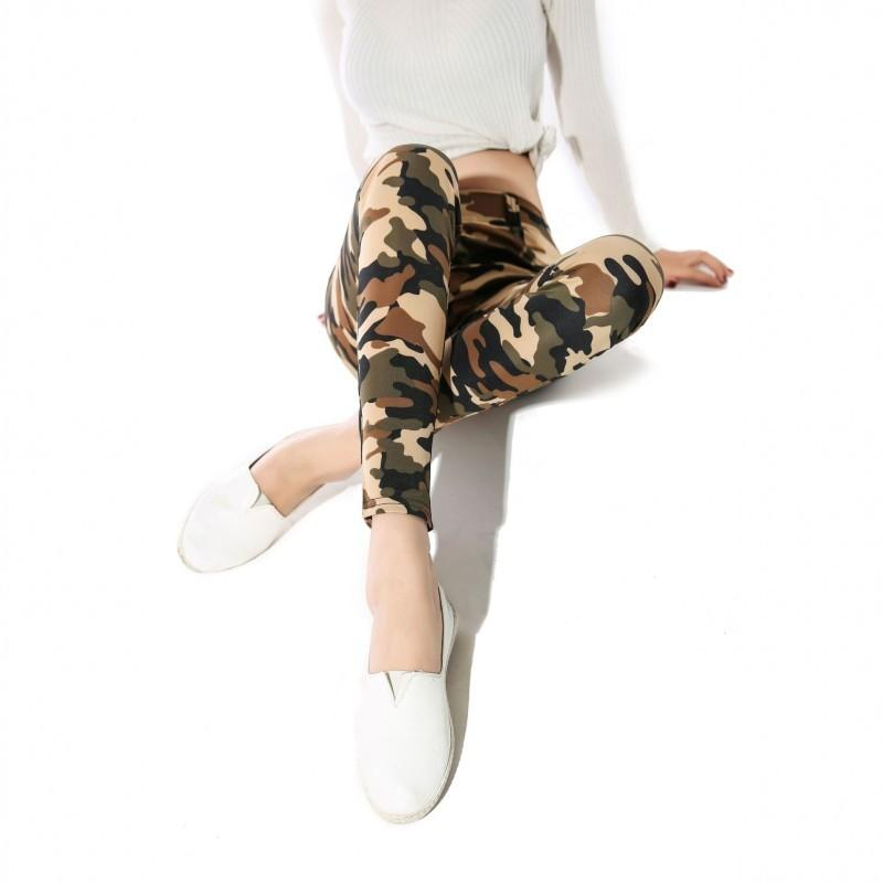 Sexy Leggings Women Camouflage Printed Classic fashion Trousers Female Army Green Stretch Slim High Waist Workout Jeggings Y200113