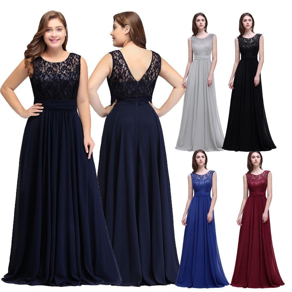 2019 Cheapest Short Sleeve Lace Mother of Bride Groom Dresses Evening Bridesmaid Dress Robe de Soiree Longue Plus Size CPS522