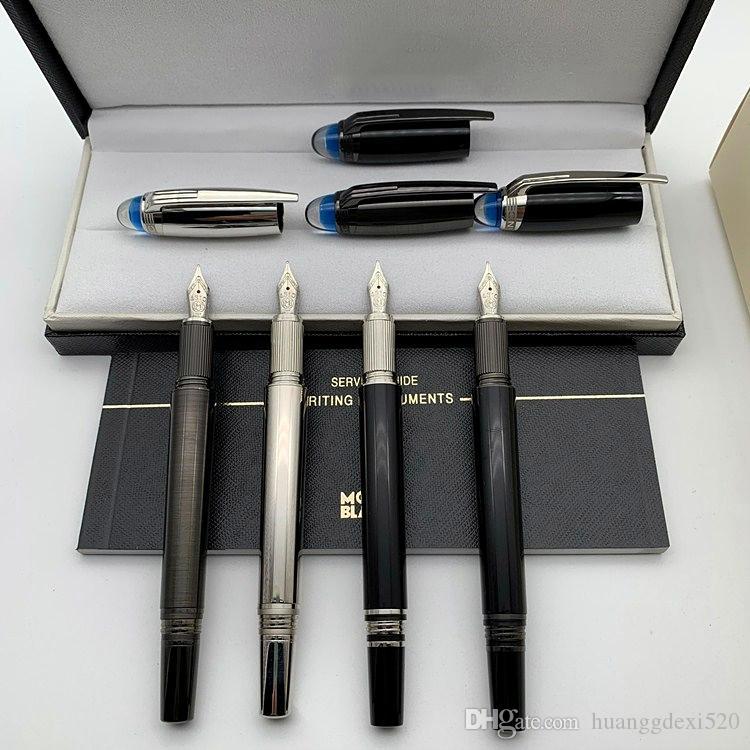 طبعة محدودة ستار waiker الكريستال الأزرق أعلى الكلاسيكية نافورة القلم رولربال قلم حبر الأقلام الكتابة اللوازم المكتبية مع MB الرقم التسلسلي