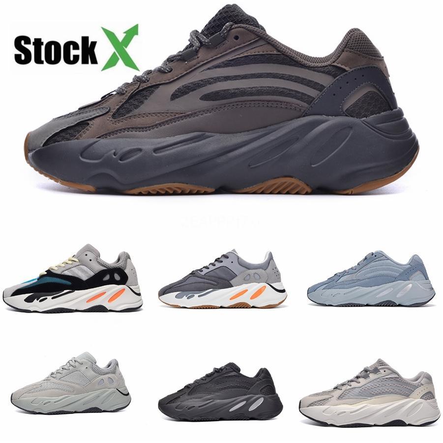 700 Dalga Runner 2020 Leylak Vanta Atalet Katı Gri Beyaz Kadın Erkek V2 Statik Mavi Kanye West Ayakkabı Spor Sneakers # QA945 Ayakkabı Koşu