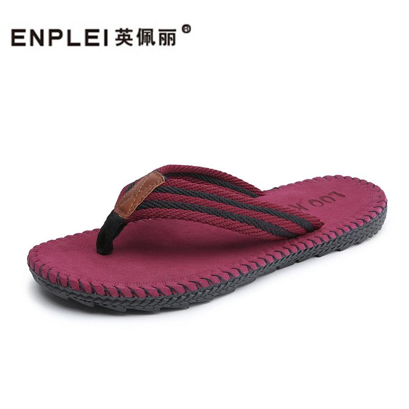 ENPLEI Fashion Man's Flip-Flops Summer New Sandals Men's Leisure Beach Slippers Size 38-44