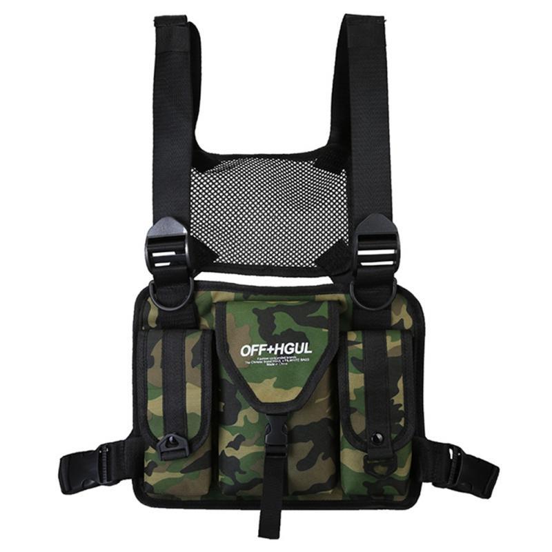 Hip Adjustable Tactical Men Hop Waist Rig Shoulder Bags Men Pockets Bag Chest Functional Streetwear Packs Casaj