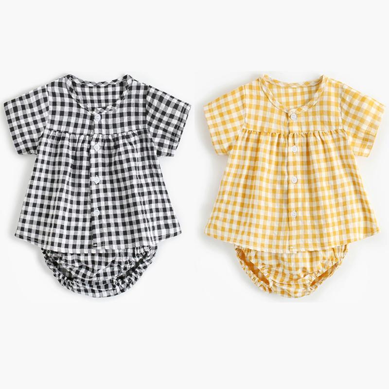 Verão 2020 da manta do bebé Roupa Define camisas de manga curta e Diaper incluir Shorts 2 parte bonito Baby Girl Outfits 20032602
