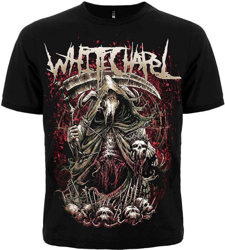 Camiseta Whitechapel The King Is Dead Nuevo tamaño diferente Una nación de banda de metal
