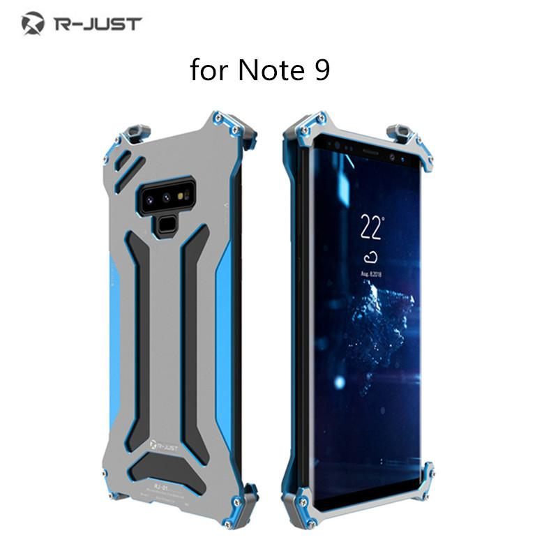 Not 9 vaka R-JUST Gundam için Orijinal CNC Zırh Kabuk Metal Alüminyum koruma telefon shell kılıf Samsung Galaxy NOTE9
