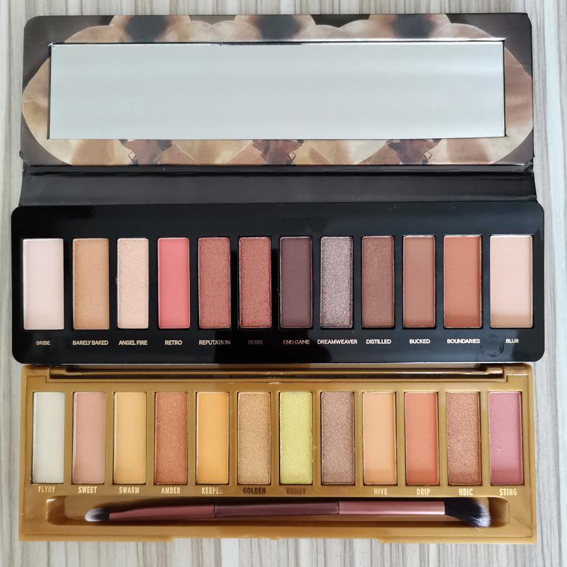 Nuovi make-up Miele ombretto palette di 12 colori RELOADED palette opaco di luccichio impermeabile tavolozza Ombretto calore più spazzole DHL