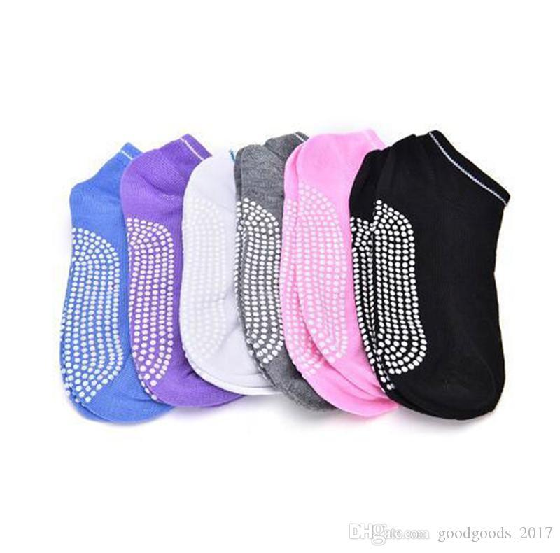 Yoga Socks Non Slip Массаж Лодыжки Женщины Пилатес Фитнес Красочные Носок Прочный Dance Grip Упражнение Печатные Тренажерный Зал Dance Носки Спортивные K146