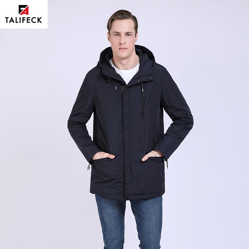 TALIFECK 2019 New Spring Autumn Outwear Men Waterproof Men's Casual Casual Jacket Men's Long Thin Coats Man Cotton