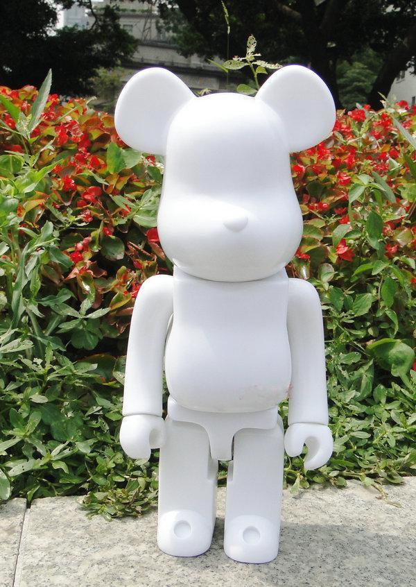 400% Bearbrick Urso @ tijolo Diy pintura PVC Action Figure Colecção Cor Branco com Opp saco presente das crianças Ag108 Y19062901