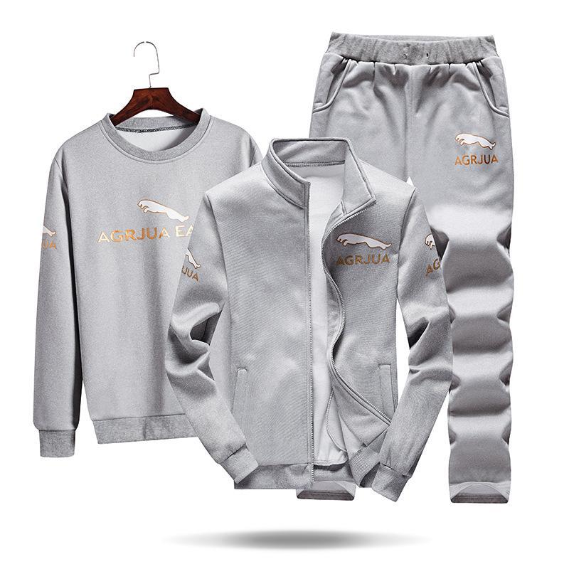 2020 Спортивные костюмы Приграничное внешнеторговый новый случайный спортивный костюм весной и осенью свитер мужской пиджак тенденция красавцы одежды трехсекционный
