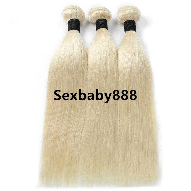 Trama 100g / pc di estensioni 100g / pc di estensioni dei capelli umani del tessuto dei capelli diritti di Remy del brasiliano vergine 100% 14inch-24inch 613