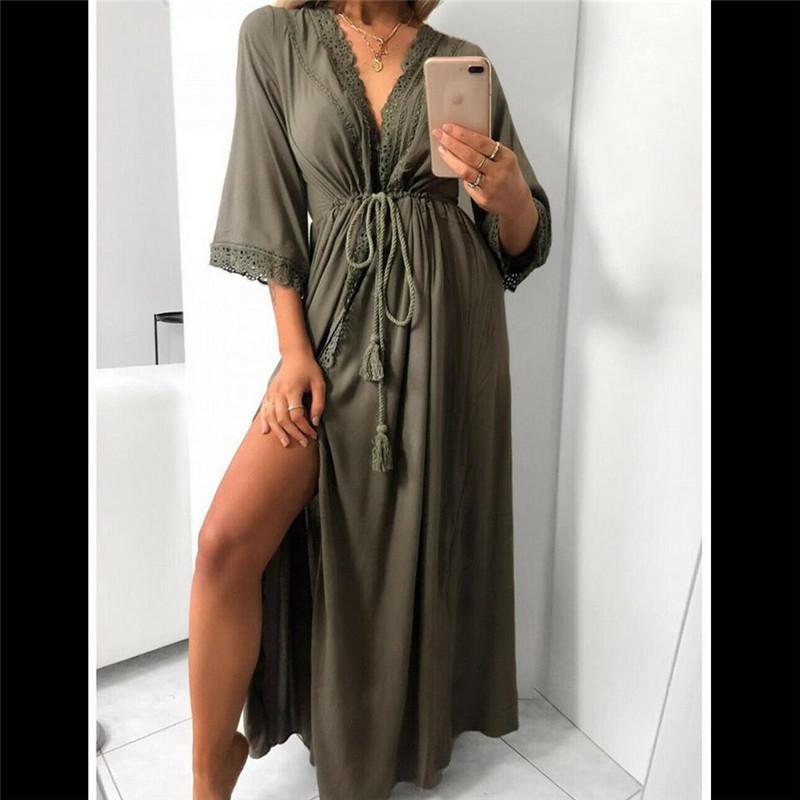 S 3xl Mujer Verano De Playa Vestido De Lino De Verano Vestido Mujer Mujer Camiseta Algodón Casual Tallas Grandes Vestido De Señoras Tallas Grandes Vestidos De Playa Mujer Fiesta