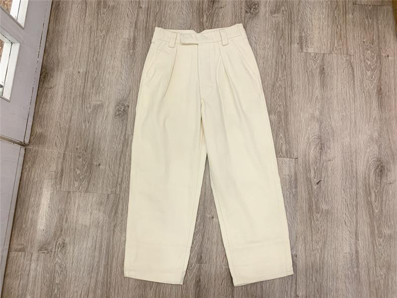 Mulheres Calças Jeans 2020 alta cintura reta Pernas Calças Joker Solta Casual nove pontos Calças Mulheres