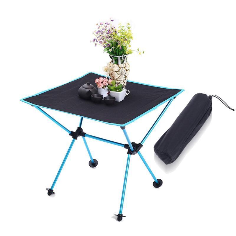 Pesca HooRu rollo camping mesa portátil con mochila de picnic Mesa plegable al aire libre Ligera Jardín Escritorio de Playa Viajar