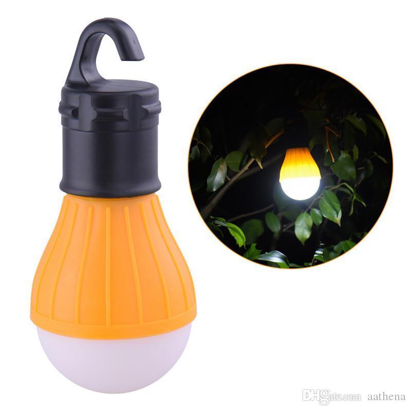 Matériel de camping en plein air lumière LED Mini Ampoule portable Randonnée Hameçon lampe de poche d'éclairage Camping Lumière