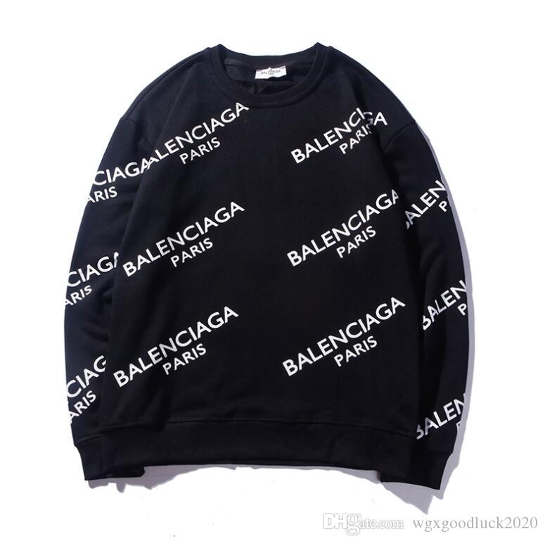 럭셔리 남성 디자이너 운동복 후드 풀오버 스웨터 패션 남성 여성 스트리트 까마귀 파리 편지 얇은 긴 소매는 크기 M-XXL 꼭대기에 오른다